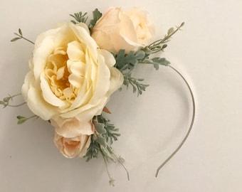 Flower Headband | Flower Crown | Races Headwear | Floral Headband | Boho Headband