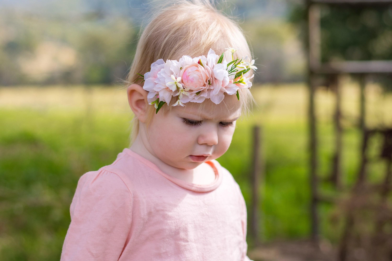 Flowergirl Headband Girls Flower Crown Baby Flower Crown Baby