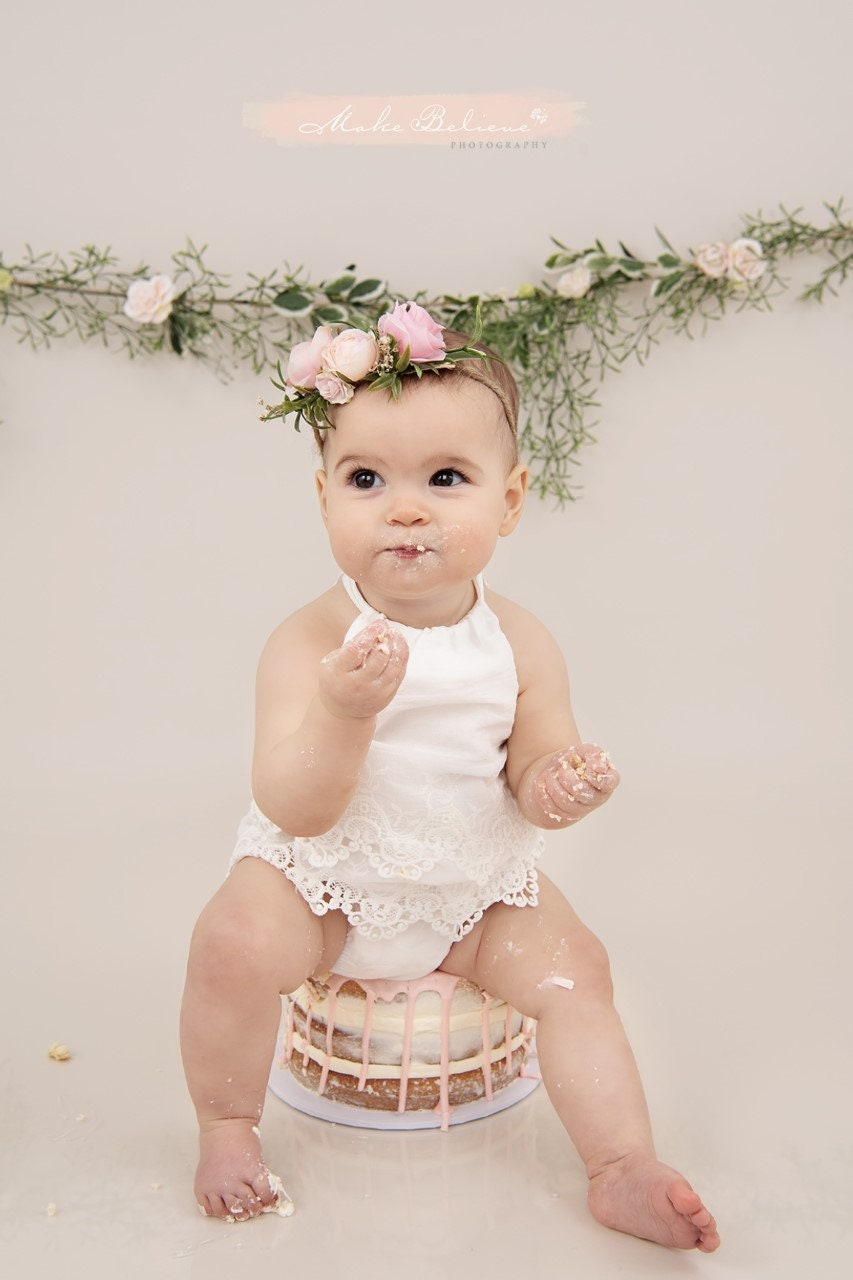 Flower Tie Back Girls Flower Crown Baby Flower Crown Baby