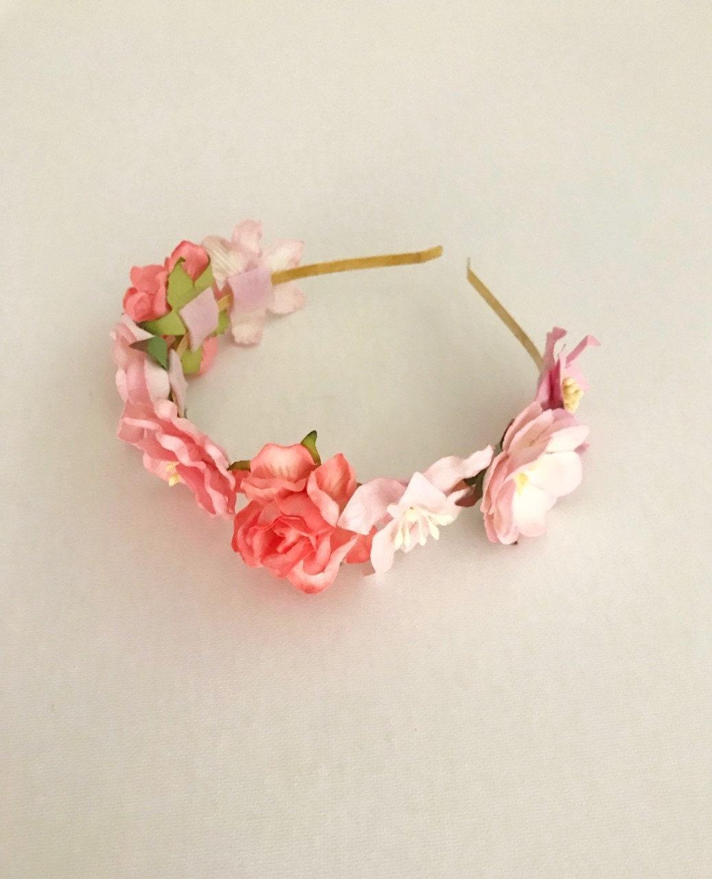 Sale Flowergirl Headband Girls Flower Crown Baby Flower Crown