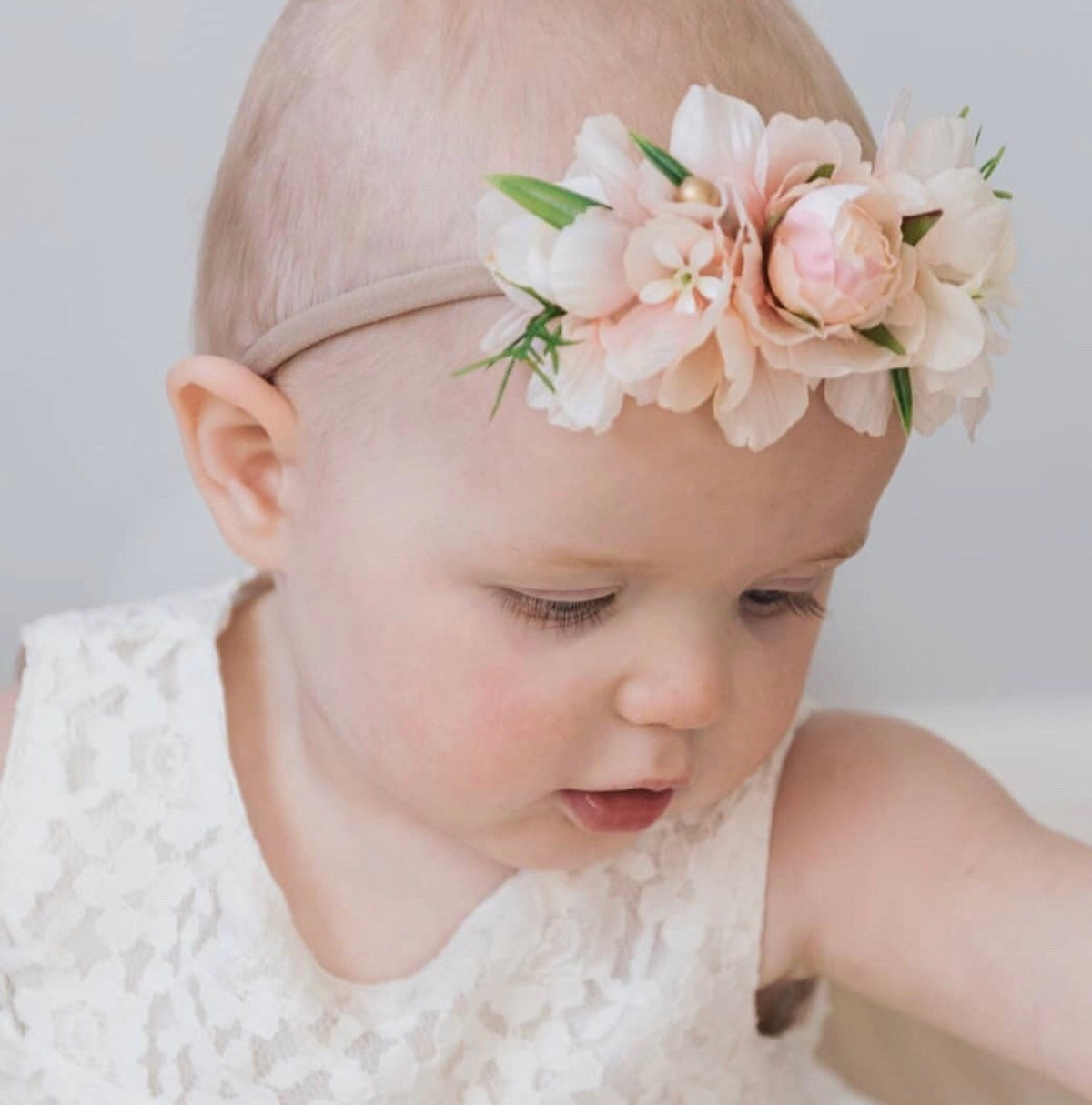 Flowergirl Headband Girls Flower Crown Baby Flower Crown Baby