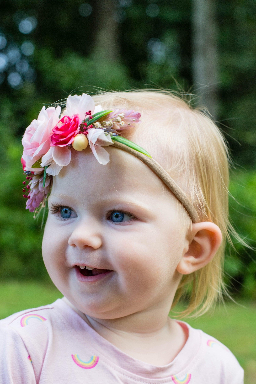 Flower Headband Girls Flower Crown Baby Flower Crown Baby