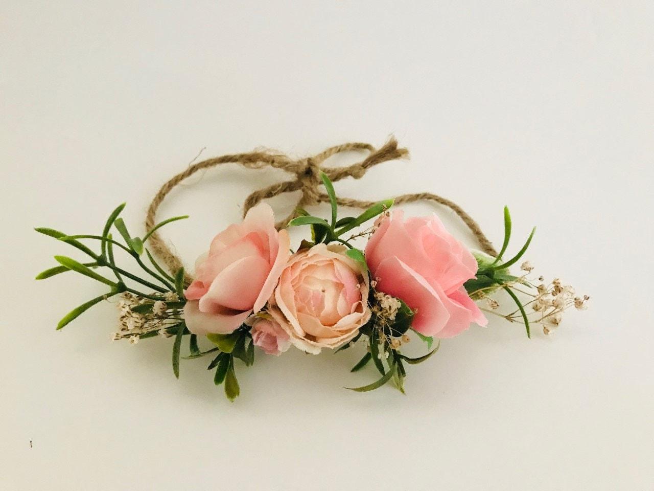 Flower tie back | Girls Flower Crown | Baby Flower Crown ...