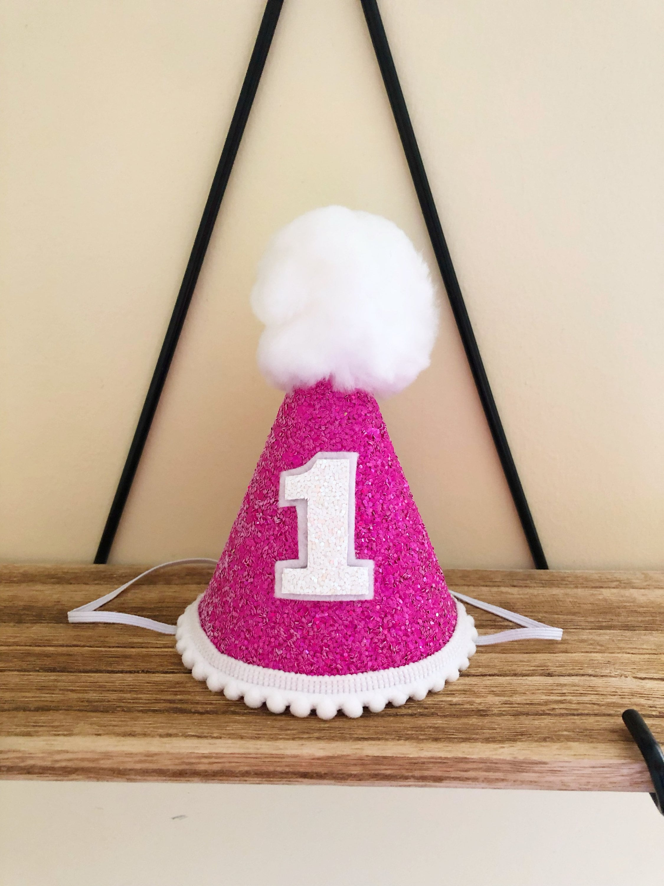 Pink And White Birthday Party Hat