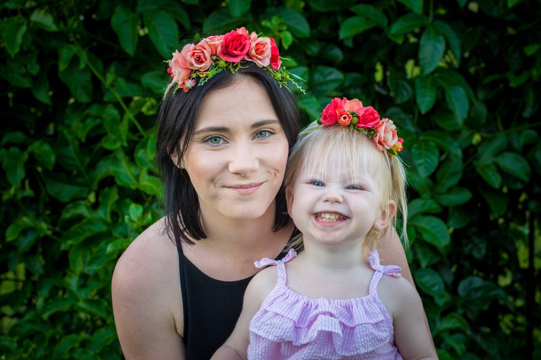47918e733c975 Mum and Baby Flower crowns | Baby Flower Headband | Baby Girl Flower Crown  | Matching Flower Crowns
