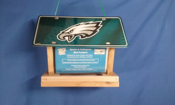 Philadelphia Eagles license plate bird feeder (eagle head)  hand built 6776f92b01e