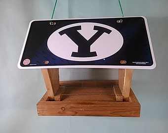 Brigham Young University Cougars license plate bird feeder (MTG510201/2)