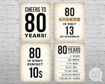 80th Birthday Quote Etsy