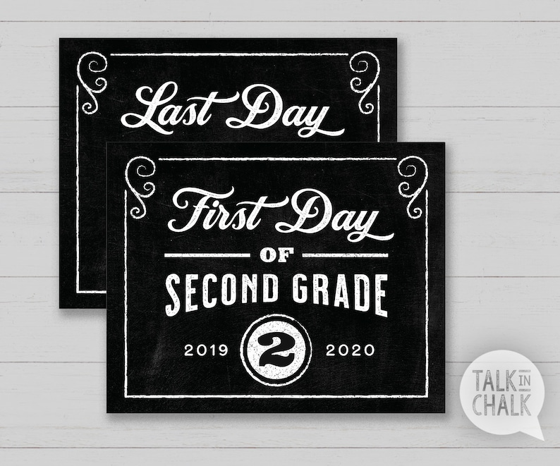 photo relating to First Day of Second Grade Printable Sign named 1st Working day of Moment Quality PRINTABLE Chalkboard Indication Very last Working day of 2nd Quality PRINTABLE Picture Prop Prompt Obtain, Do it yourself Printing