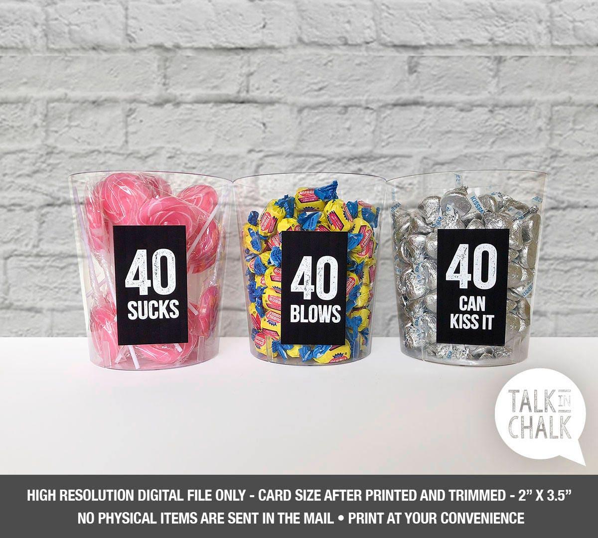 40th Birthday Printable Table Decorations 40 Sucks 40 Etsy