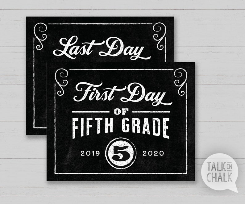 photo regarding First Day of 5th Grade Printable named To start with Working day of 5th Quality PRINTABLE Chalkboard Indicator Very last Working day of 5th Quality PRINTABLE Picture Prop Instantaneous Obtain, Do-it-yourself Printing