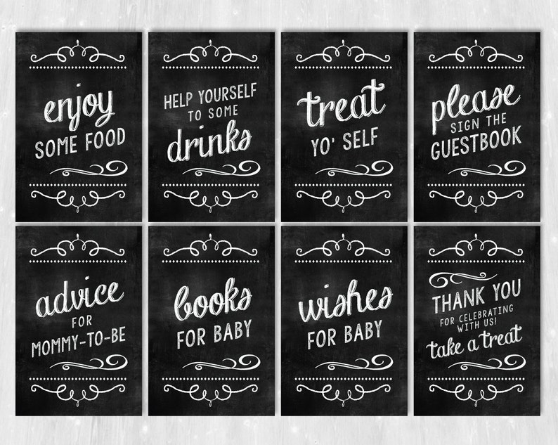 photo relating to Printable Chalkboard Signs named Child Shower Indicator Pack, PRINTABLE Chalkboard Signs and symptoms, Child Shower Decorations, Little one Shower Celebration Signs or symptoms, Fast Obtain