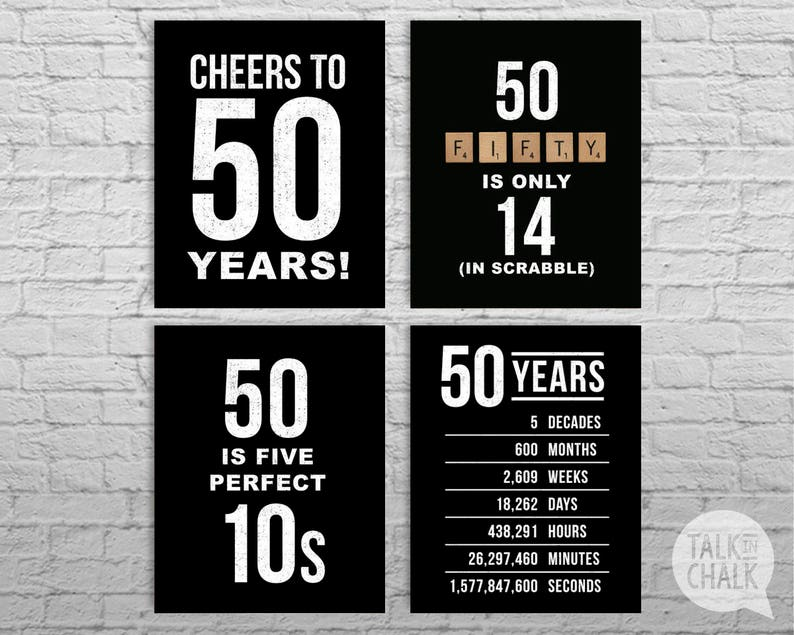 Obsessed image pertaining to printable 50th birthday signs