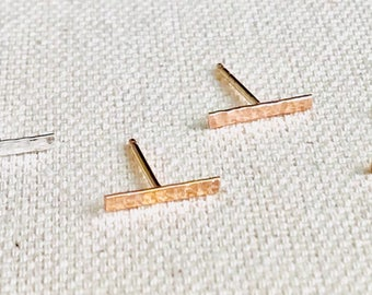 Bars studs earrings