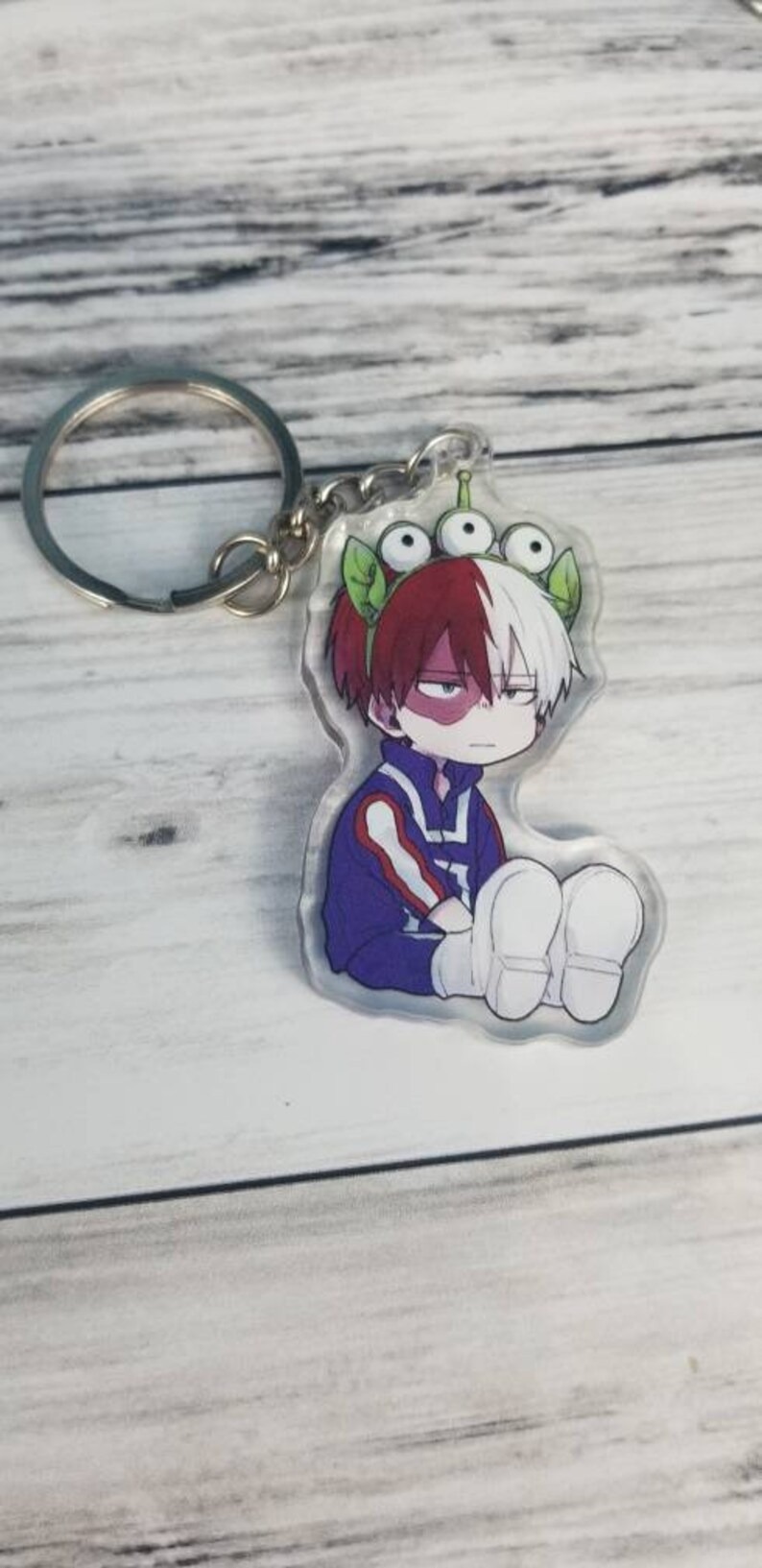 My hero academia, Anime, boys, powers no, clear acrylic, white double  sides, photo I'd, badge holder