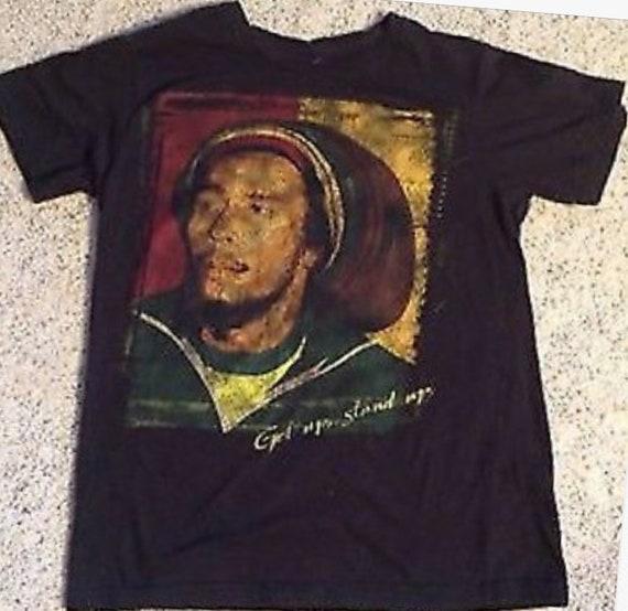 Get Up Stand Up Mens Reggae T-Shirt Bob Marley Music Jamaica