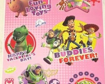 Static Window Clings Disney Toy Story Valentines Day Woody Buzz Lightyear