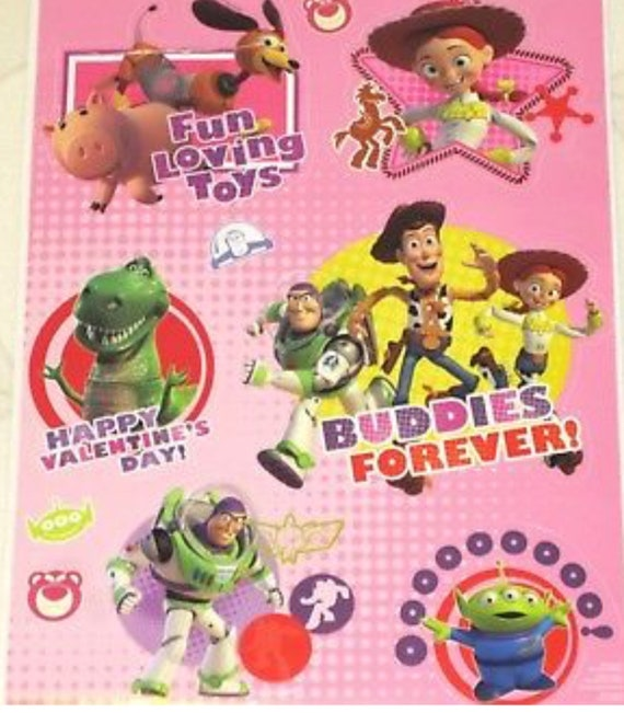 Static Window Clings Disney Toy Story Valentines Day Woody Etsy
