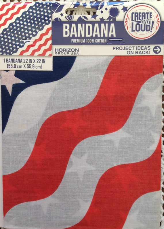 Bandana Red White Blue Stars Stripes Flag Skull Ca