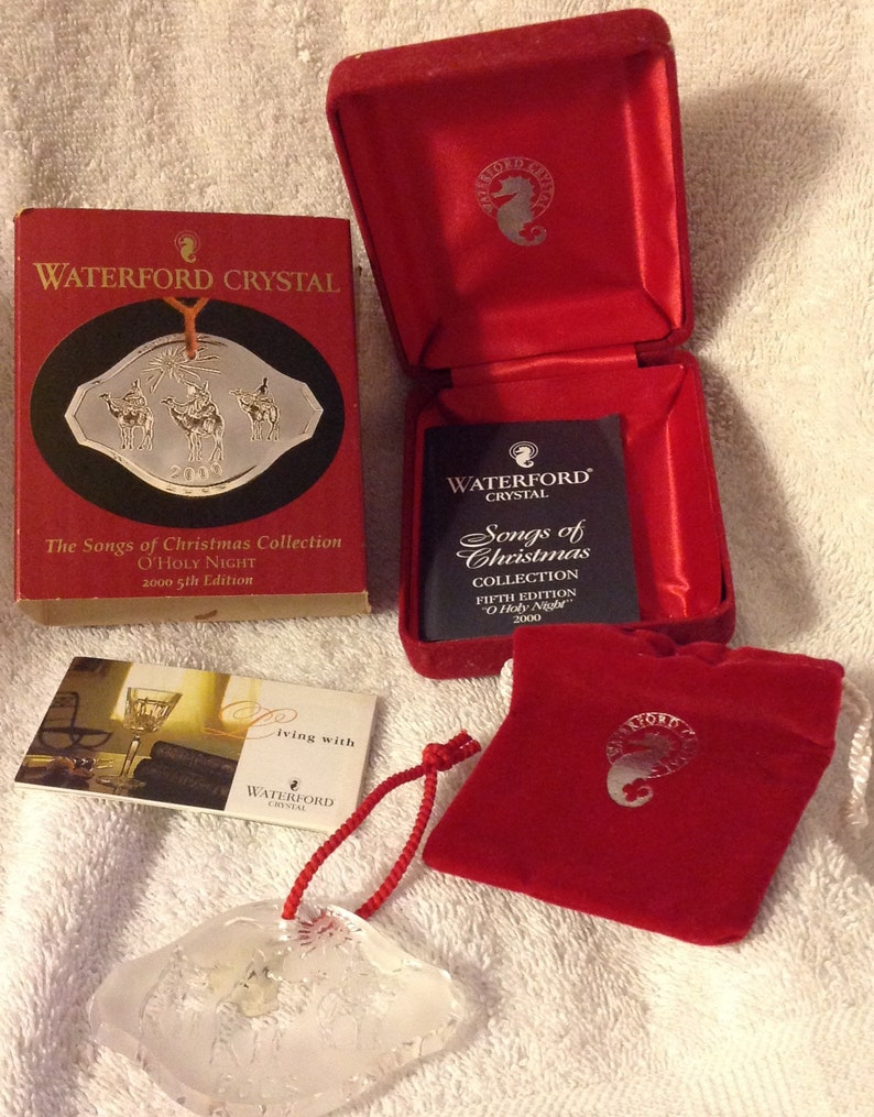 Waterford Crystal Ornament Songs of Christmas Collection O Holy Night