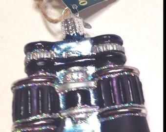 Old World Christmas Ornament Glass Binoculars