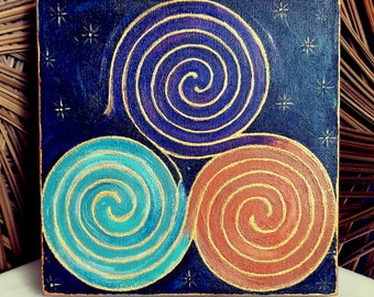 Finger Labyrinth -Triskele Painting - Meditation aid