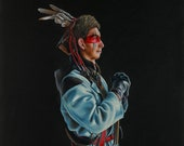 Canvas Print of quot Victory over the River Raisin quot by Oklahoma Cherokee Artist Bryan Waytula