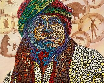 "Canvas Print of ""The Storyteller"" by Cherokee Artist Bryan Waytula"