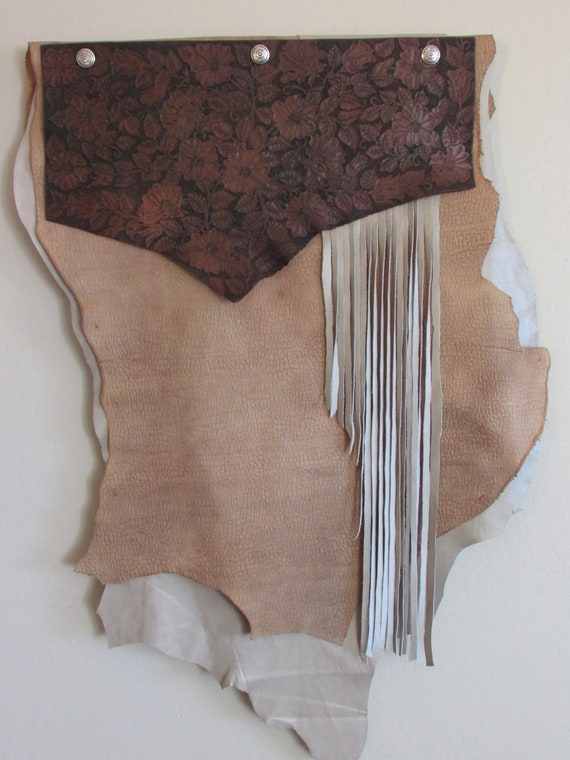 "Leather Wall Hanging (32"" wide x 44"" long)"