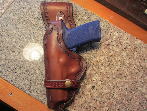 Leather Holster for HK USP 0.45 ACP, Full Length Barrel