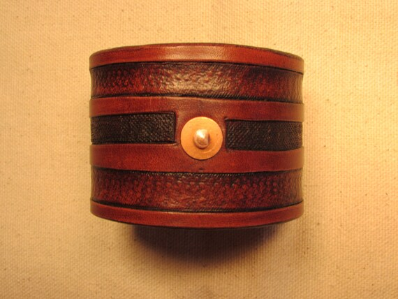 "2"" Non-Vintage, Vintage Looking Leather Cuff"