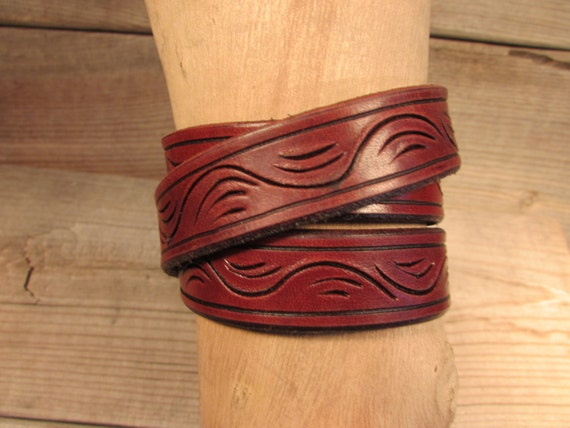 "3/4"" Wide Triple Wrap Leather Bracelet"