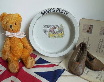 Darling little antique baby's plate