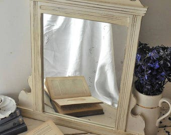 Antique mirror, painted mirror, distressed mirror