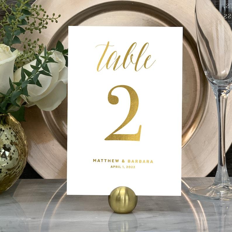 Wedding Table Number Gold Table Numbers Elegant Wedding image 0