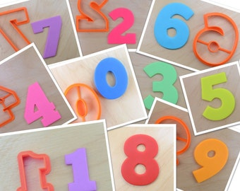 10 pcs Classic Numbers Cookie Cutter Set