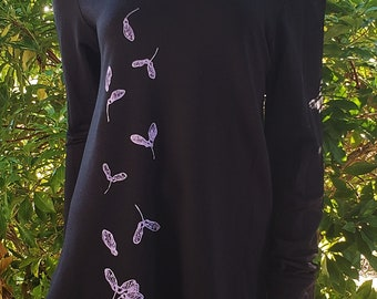 Mint Bamboo Pachena Clothing Made in Canada, Design Side Slit Tunic featuring FAMILY POD by PachenaClothing Fashion