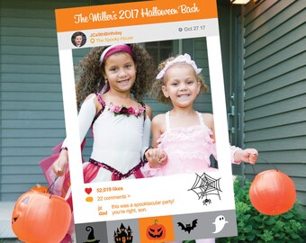 Halloween Photo Booth Frame, Halloween Party Photo Booth Prop