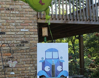 Little Blue Truck Birthday Poster Printable, Little Blue Truck Party Supplies, Photo Booth Prop and Party Decoration