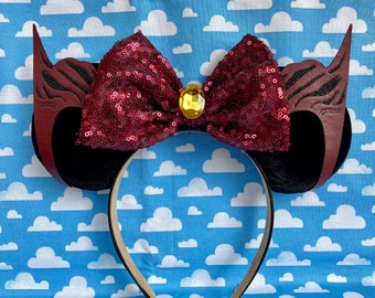 Scarlet Witch inspired mouse ears