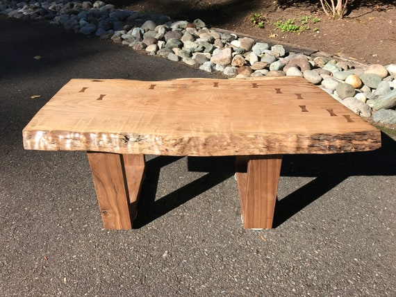 New Live Edge Spalted Maple Coffee Table Etsy