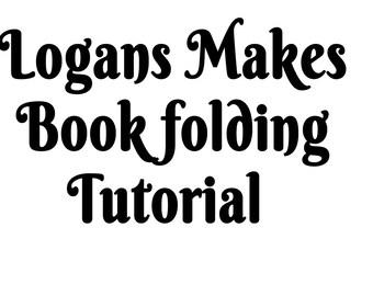 Book folding Tutorial Instructions - Learn to book fold FREE Heart Pattern 80 folds