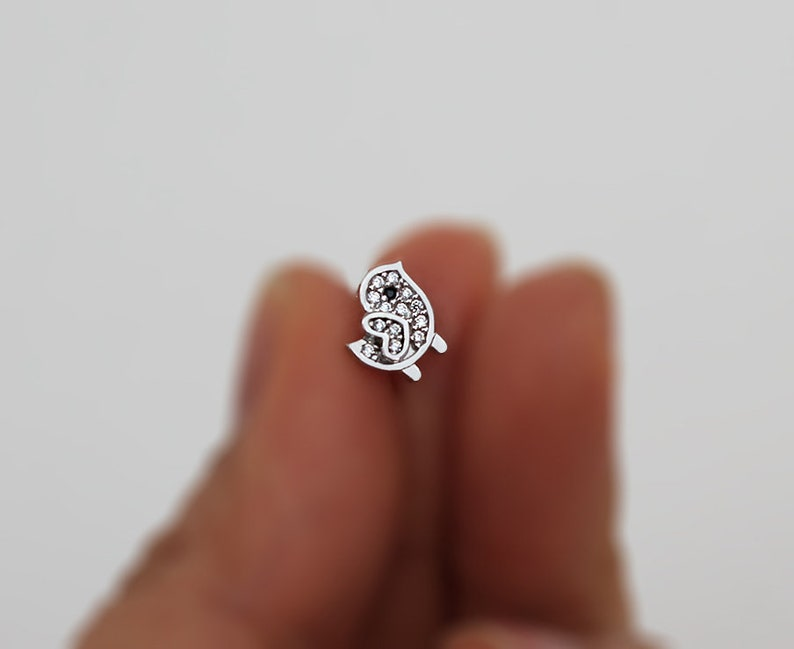 925 Sterling Silver Cubic Chick Baby Girls Children Screwback Earrings