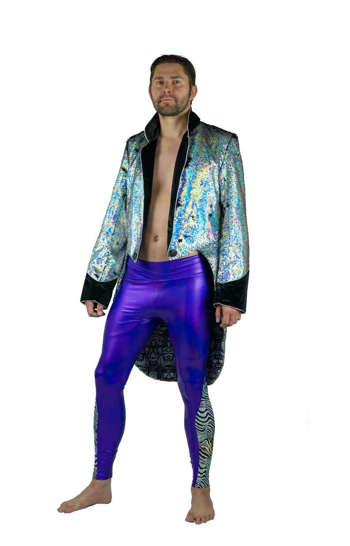 e717e75b6755f9 Mens Purple Meggings Holographic Silver zebra festival | Etsy
