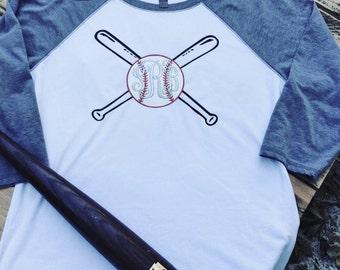 Monogrammed Baseball Raglan Shirt