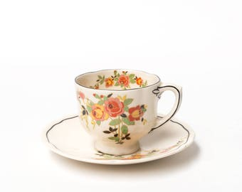 2 Royal Doulton Rosslyn 1933, Demitasse Coffee Cup & Saucer Duos