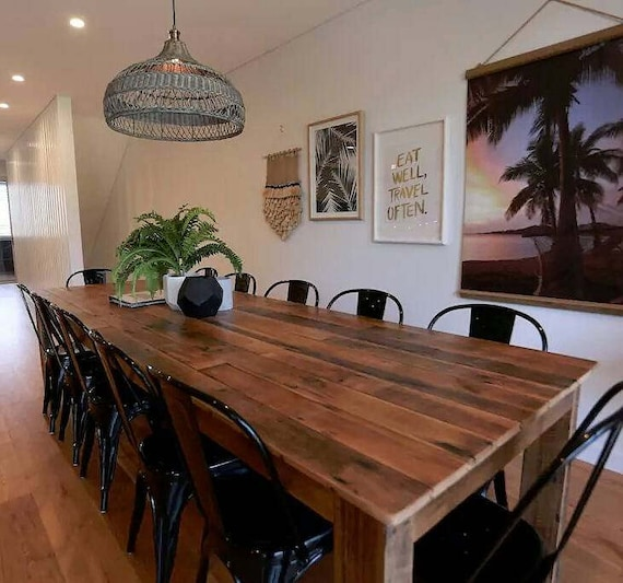 Prime Recycled Timber Dining Table With Optional Bench Seats Suit Indoor Or Outdoor Hardwood Timber Made To Order In Any Size Uwap Interior Chair Design Uwaporg