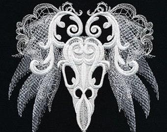 Cushion cover - ghost baroque - birds skull