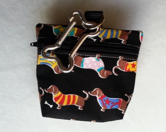 Dackel Dachshund Münze Geldbörse Coin Purse Oder Snackbeutel Or Treat Bag Leckerlibeutel