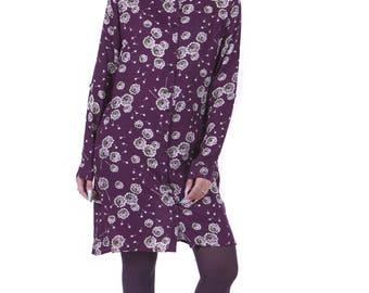 Big Groundsel Purple Boyfriend Winter Dress